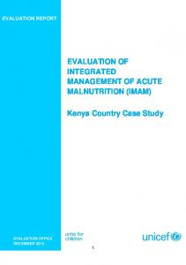 EVALUATION OF INTEGRATED MANAGEMENT OF ACUTE ... - Unicef