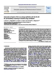 Evaluation of layers of the rat airway epithelial cell ...