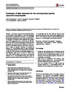 Evaluation of light attraction for the stored-product ... - Springer Link