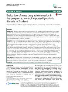 Evaluation of mass drug administration in the program to ... - CiteSeerX