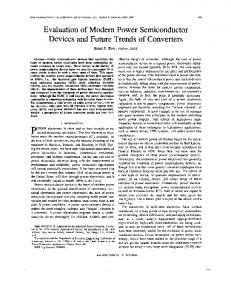 Evaluation of modern power semiconductor devices and future trends ...