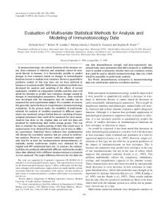 Evaluation of multivariate statistical methods for analysis and ...