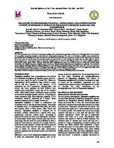 Evaluation of Neuropharmacological, Antibacterial, and ...