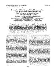 Evaluation of new enzyme-linked immunosorbent assay based on a ...