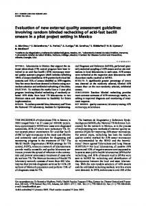 Evaluation of new external quality assessment ... - IngentaConnect