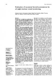 Evaluation of nocturnal bronchoconstriction by all night tracheal sound ...