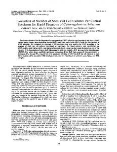 Evaluation of number of shell vial cell cultures per clinical specimen ...