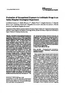 Evaluation of Occupational Exposure to Antiblastic ... - Semantic Scholar