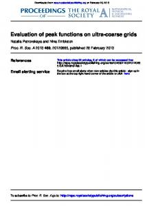 Evaluation of peak functions on ultra-coarse grids - School of