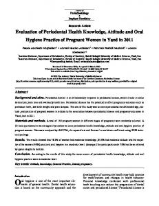 Evaluation of Periodontal Health Knowledge