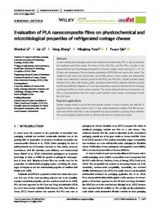 Evaluation of PLA nanocomposite films on ... - Wiley Online Library