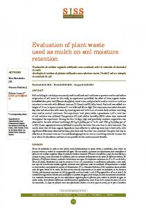 Evaluation of plant waste used as mulch on soil moisture ... - Dialnet