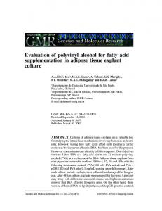 Evaluation of polyvinyl alcohol for fatty acid