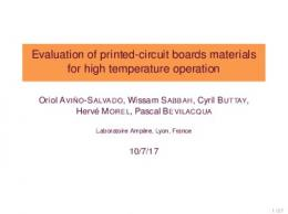 Evaluation of printed-circuit boards materials for high temperature