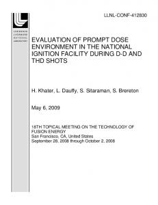 evaluation of prompt dose environment in the ... - Site Index Page