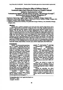 Evaluation of Protective Effect of Different Doses of Terminalia arjuna ...