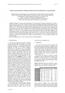 evaluation of pv system performance of five different pv module