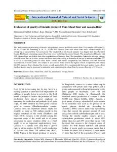 Evaluation of quality of biscuits prepared from wheat