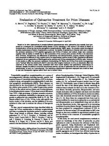 Evaluation of Quinacrine Treatment for Prion ... - Journal of Virology