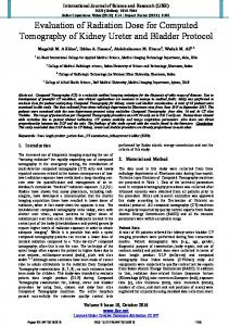 Evaluation of Radiation Dose for Computed Tomography of Kidney ...