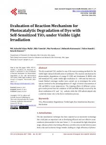 Evaluation of Reaction Mechanism for Photocatalytic Degradation of