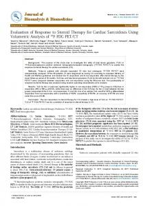 Evaluation of Response to Steroid Therapy for Cardiac Sarcoidosis ...