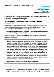 Evaluation of Rheological Properties and Swelling ... - CiteSeerX