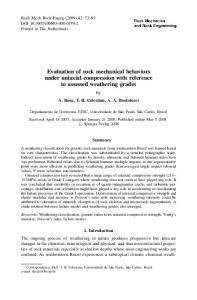 Evaluation of rock mechanical behaviors under ... - Springer Link