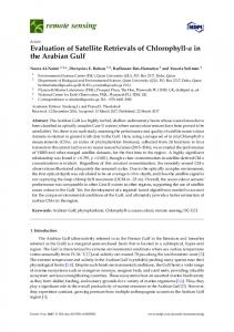 Evaluation of Satellite Retrievals of Chlorophyll-a in the ... - MDPI