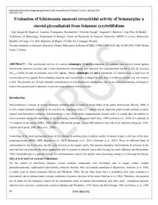 Evaluation of Schistosoma mansoni cercaricidal activity of ...
