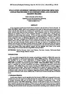 EVALUATION OF SEISMIC DEFORMATION DEMANDS USING NON ...