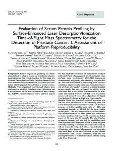 Evaluation of Serum Protein Profiling by Surface ... - Clinical Chemistry