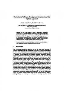Evaluation of Software Development Investments: a ...
