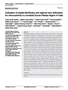 Evaluation of spatial distribution and regional zone