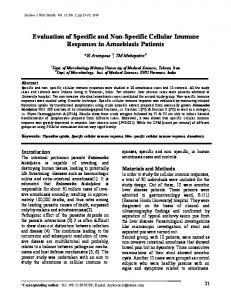 Evaluation of Specific and Non-Specific Cellular Immune ... - CiteSeerX