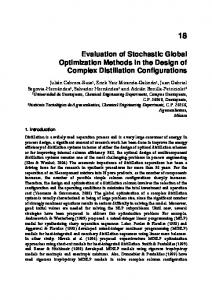 Evaluation of Stochastic Global Optimization Methods in the Design of