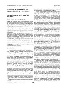 Evaluation of Strategies for the Intracellular ... - Semantic Scholar