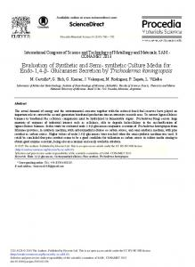 Evaluation of Synthetic and Semi- synthetic Culture ... - Science Direct