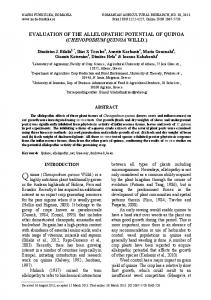 EVALUATION OF THE ALLELOPATHIC POTENTIAL OF QUINOA ...