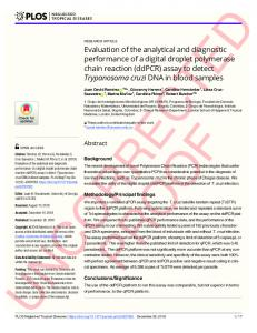 Evaluation of the analytical and diagnostic performance of a ... - PLOS
