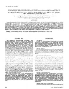 EVALUATION OF THE ANTIOXIDANT CAPACITY OF ... - SciELO