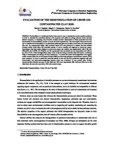 evaluation of the biostimulation of crude oil