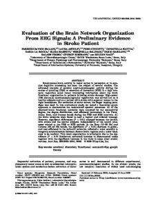 Evaluation of the Brain Network Organization ... - Wiley Online Library