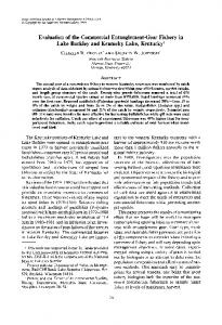 Evaluation of the Commercial Entanglement-Gear Fishery in Lake ...