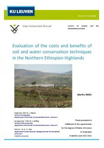 Evaluation of the costs and benefits of soil and water conservation