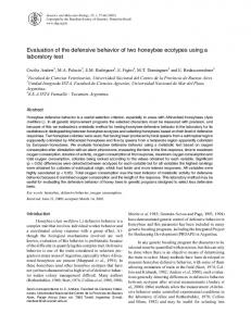 Evaluation of the defensive behavior of two