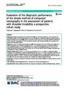 Evaluation of the diagnostic performance of the