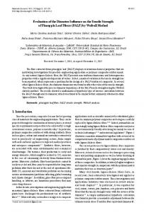 Evaluation of the Diameter Influence on the Tensile Strength of ...