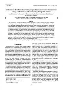 Evaluation of the effects of increasing temperature on the transpiration ...