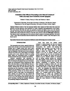 Evaluation of the Effects of Processing on the Mineral